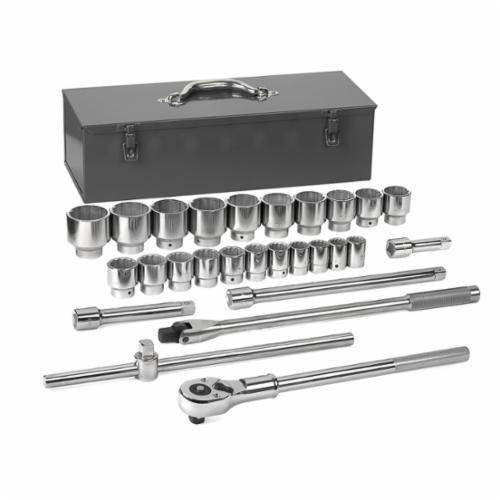 "27PC 3/4""DR 12PT SAE STD MECHANICS TOOL SET 80880"